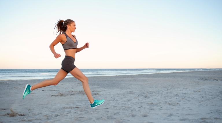 fitness shoot at beach